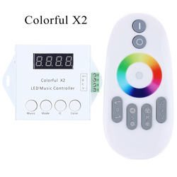 LED Digital Music Controller with RF Touch Remote DC5V-24V Input WS2811/WS2812B/WS2813/USC1903 Control Max 600/ 1000 Pixels