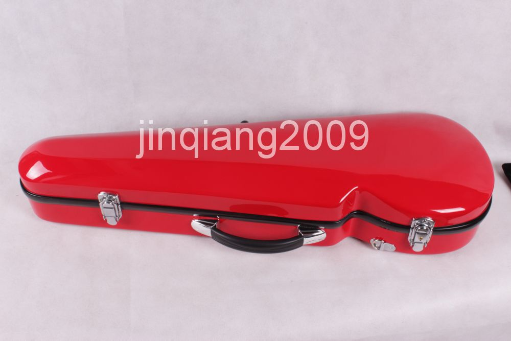 red  color  4/4 Full size New Violin Case Glass Fiber Light Durable  also  have  other  Black White Blue Red 4 4 full size new violin case glass fiber light durable black white blue red 1215