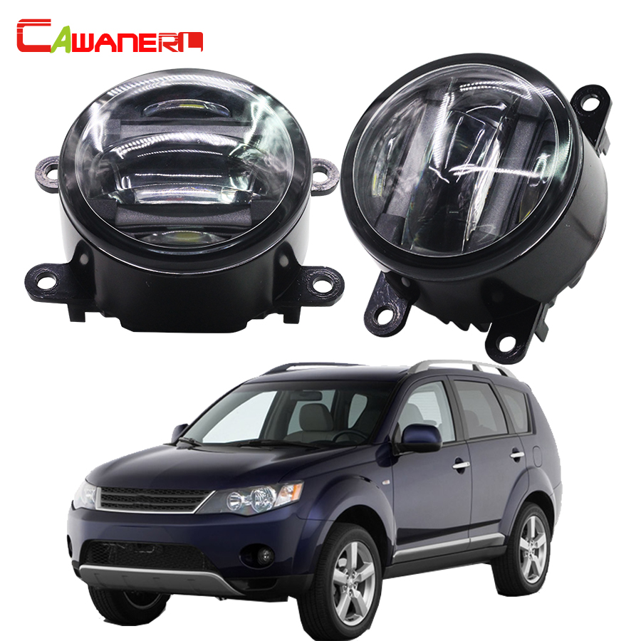 Cawanerl 2 X Car Styling LED Fog Light DRL Daytime Running Lamp For Mitsubishi Outlander 2 / II CW_W 2006-2009 cawanerl 2 x car led fog light drl daytime running lamp accessories for nissan note e11 mpv 2006