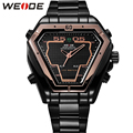 WEIDE Original Brand LED Display Watches Digital Men Sports Military Black Stainless Steel Triangle Men Watch Gifts For Mens