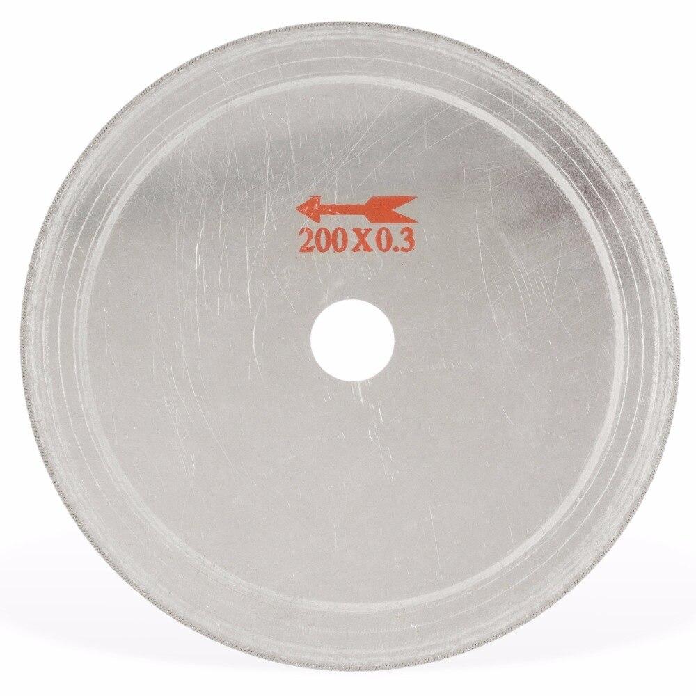 """8 """"pollici super-sottile foro pergolato 25mm orlo 0,55 mm diamante lapidario sega lama taglio disco strumenti di gioielli per pietra preziosa agata"""