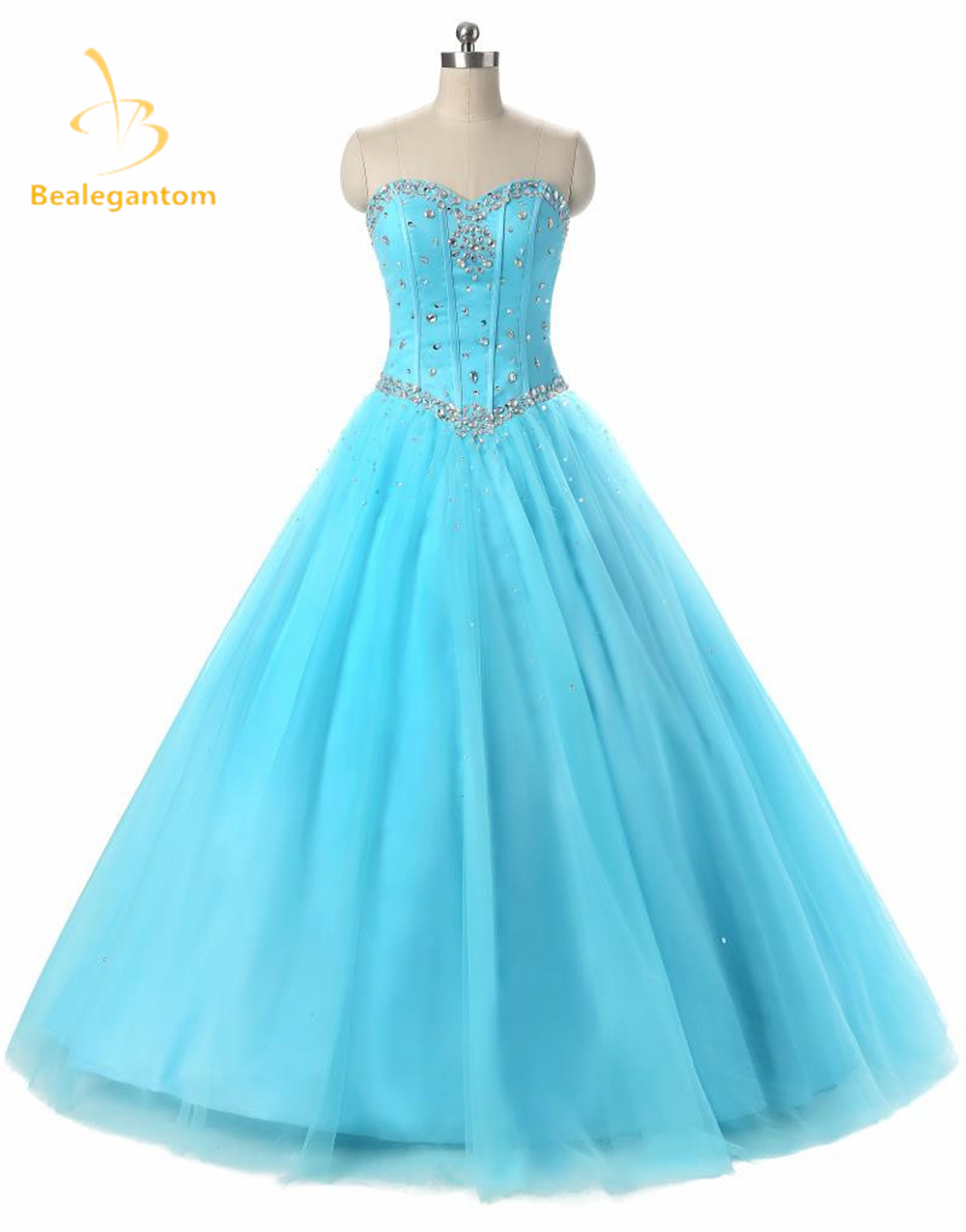 2019 New  Blue Orange Purple Quinceanera Dresses Ball Gowns Beads Dress For 15 Years Party Gowns Vestido De 15  Anos QA518