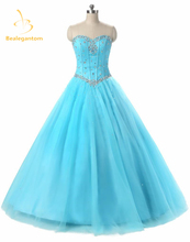 2019 New Sexy Blue Orange Purple Quinceanera Dresses Ball Gowns Beads Dress For 15 Years Party Gowns Vestido De 15 Anos QA518