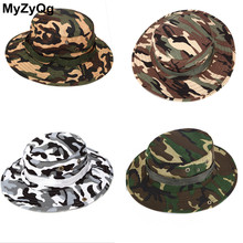 Outdoor Hunting Men Adult Camouflage Hat Camping Mountaineering Jungle Cap Fishing Hat Safari Sun Protection SH001(China)