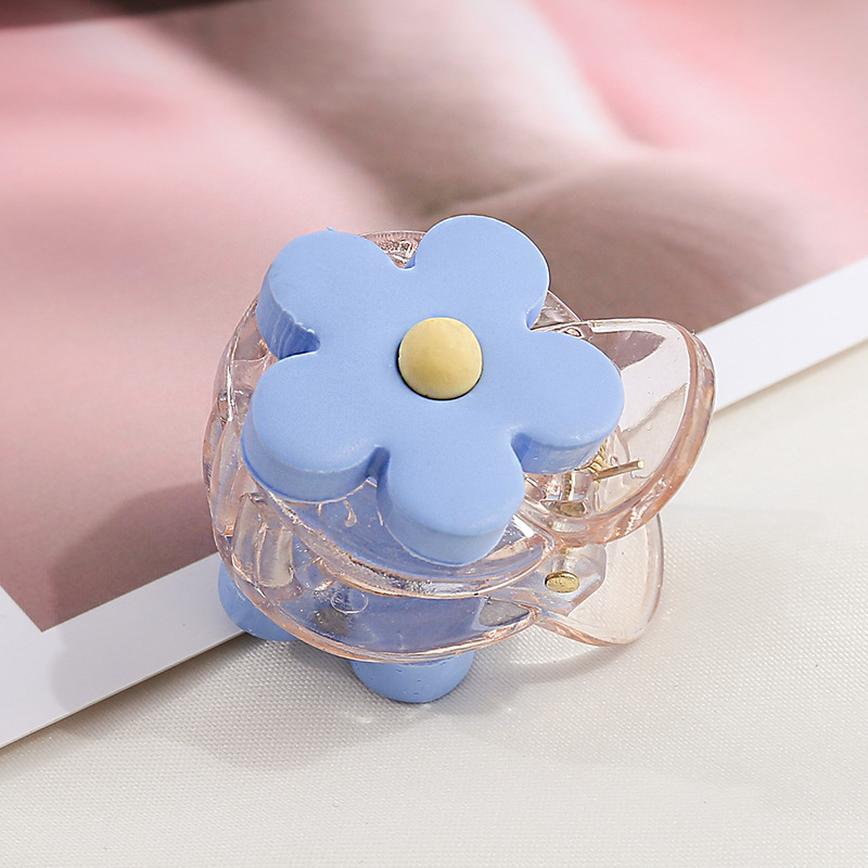 New Fashion Candy colors Cute Mini Flower resin Hairpins Women Girls Sweet Barrette Hair Clip Hair Accessories Headwear in Women 39 s Hair Accessories from Apparel Accessories