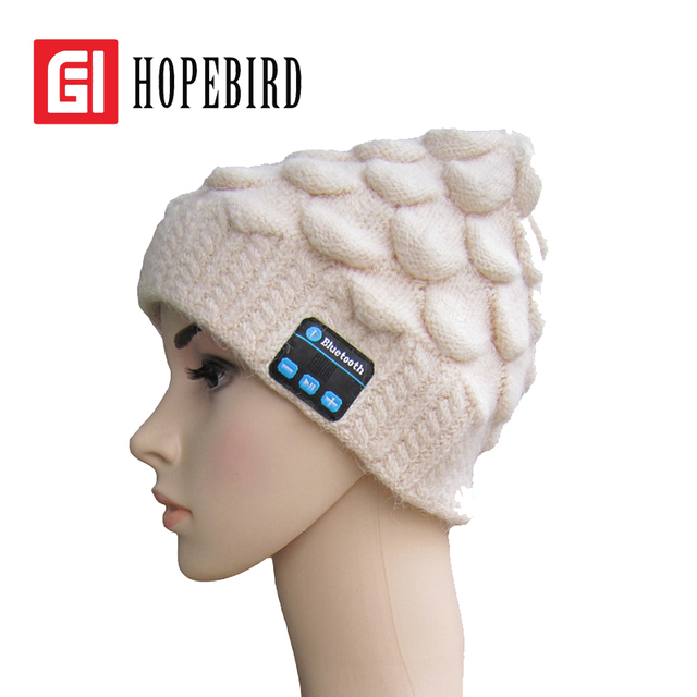 Women's Fashion Bluetooth Hat Knitted Cap 2017 Warm Hats Winter Spring New Headphone Headset Music