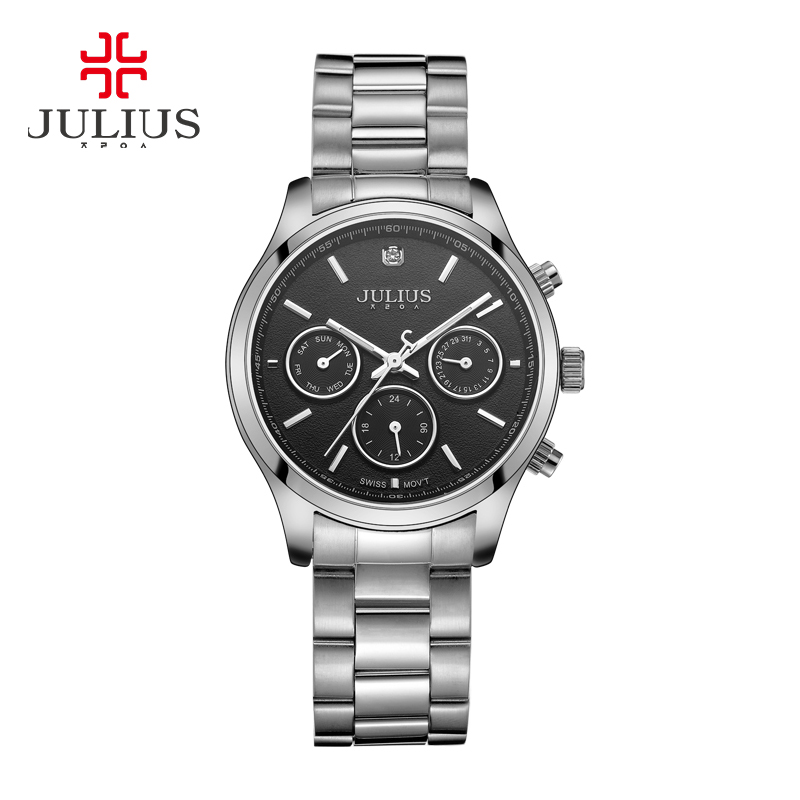 Real Functions Men's Women's Watch ISA Quartz Hours Fashion Dress Sport Stainless Steel Birthday Girl Birthday Gift Julius real functions julius shell women s watch isa mov t hours clock fine fashion bracelet sport leather birthday girl gift box
