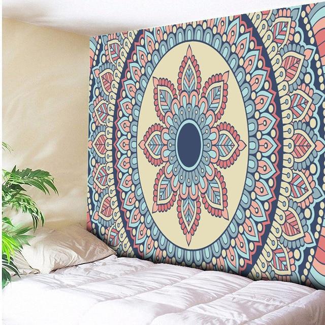 2018 New Lotus Tapestry Bohemia Boho Mandala Wall Hanging Decorative Rugs Hippie Beach