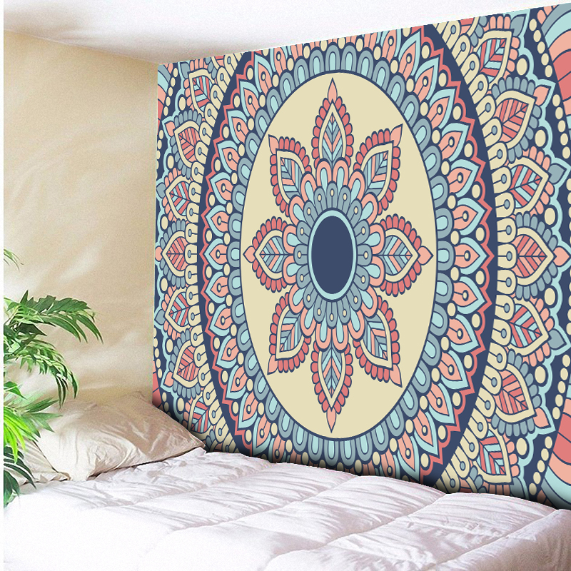 2018 New Lotus Tapestry Bohemia Boho Mandala Tapestry Wall Hanging Decorative Wall Rugs Hippie Tapestry Beach Towel Mat Blanket