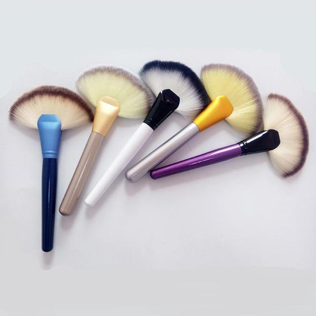 12b25a338c1d US $1.95 |Clearance Powder Fan Shape Makeup Brushes Persian Brushes Vegan  Aluminum Handle Makeup Brushes Professianal Facial Brushes -in Eye Shadow  ...