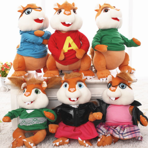 product Plush Toy stuffed doll Alvin chipmunks Erwin Simon Theodore Brittany Jeanette Eleanor lover birthday gift cartoon animal model