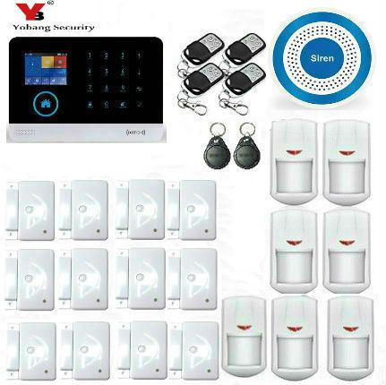 Yobang безопасности WI-FI дома Охранной Сигнализации Системы DIY Kit IOS/Android-смартфон приложение с двери/окно Сенсор Защита от взлома