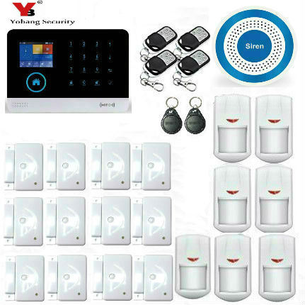 Yobang Security WIFI Home Security Alarm System DIY KIT IOS/Android Smartphone App with Door/window Sensor Burglar Alarm