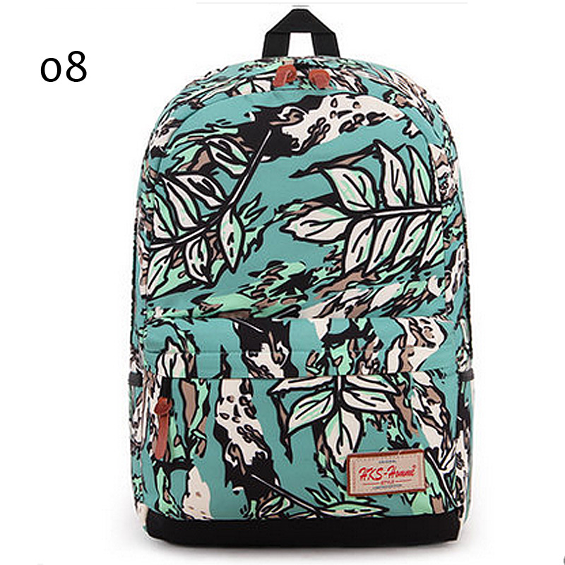 Suyuer 2017 Brand Fl Printed S Polyester Backpack 3d Fancy Leaf Ager School Book Bag Women Flower Rucksack Backpacks In From Luggage
