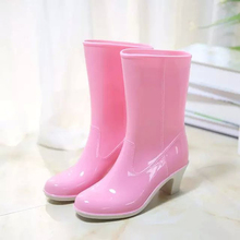 New fashion rain boots women shoes sanglaide slip on non-slip bottom excellent super high quality wedge women boots waterproof