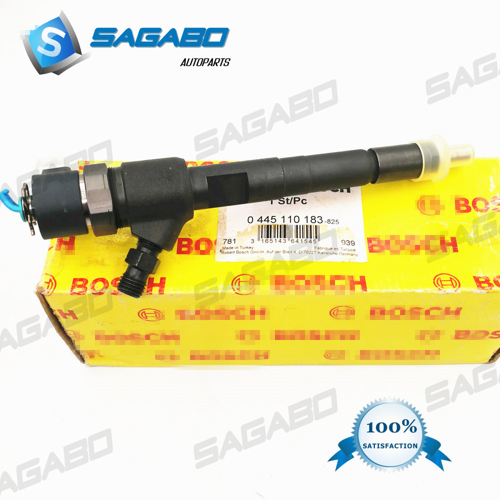 Original Common Rail Fuel Injector 0445110183 FOR Bosch OPEL FIAT VAUXHALL 0986435102 55197124 55197875 9S51 9F593