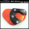 CNC Kickstand Side Stand Extension Pad Plate For KTM Duke RC 125 200 390 Enduro Supermoto SM SMC Adventure 690 950 990 1190