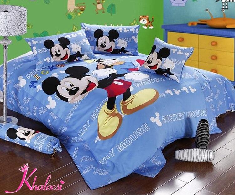 a738bb3770 Mickey mouse cama padrão crianças colcha de capas de edredão conjuntos de  cachecol de algodão egípcio Khaleesi Hometextile em Conjuntos de cama de  Home ...