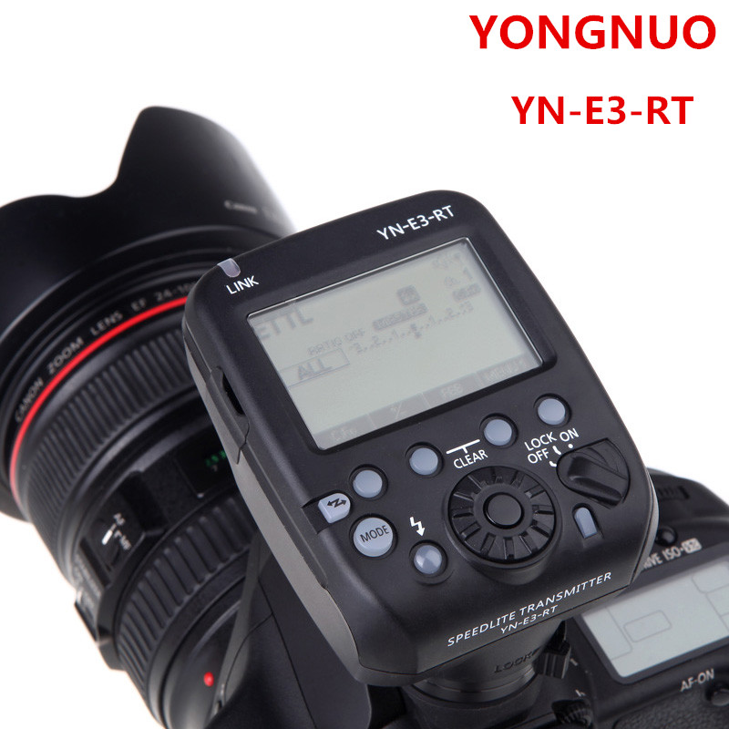 Original Yongnuo Speedlite YN-E3-RT TTL Radio Trigger Speedlite Flash Transmitter as ST-E3-RT Compatible with YONGNUO YN600EX-RT yongnuo yn600ex rt ii 2 4g wireless hss 1 8000s master ttl flash speedlite or yn e3 rt controller for canon 5d3 5d2 7d 6d 70d