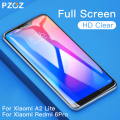 PZOZ Xiaomi Pocophone F1 Glass Mi A1 A2 Lite 8 SE 5X 6X Glass Redmi Note 7 4X 5 Plus Tempered Glass Full Cover Screen Protector