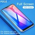 PZOZ Xiaomi teléfono móvil F1 de mi A1 A2 Lite 8 SE 5X 6X de vidrio rojo mi nota 7 4X5 Plus de templado de vidrio de la cubierta completa Protector de pantalla