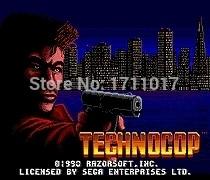 Technocop 16 bit MD Game Card For Sega Mega Drive For Genesis