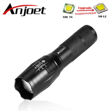 Anjoet Portable LED Flashlight LED Torch Zoomable Flashlight 8000LM CREE XM-L 2 LED 5 Mode Light For 18650 or 3xAAA Battery
