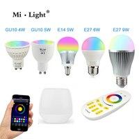 Milight Led Bulb 4W 5W 6W 9W GU10 E27 E14 RGBW RGBWW Lamps Wireless Wifi Controller