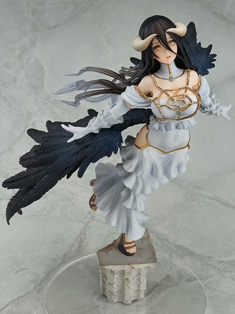 Anime YGGDRASIL Ainz Ooal Gown Albedo Figure Sexy Removable Adult Doll Toy 29cm PVC Action Figure