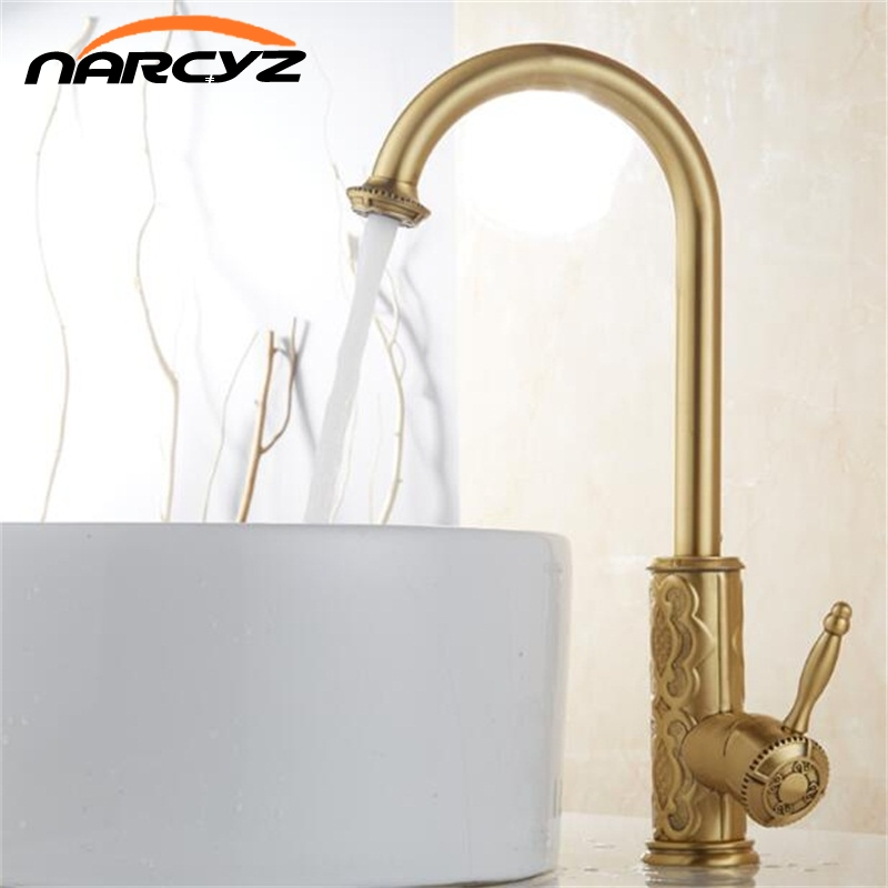 US $59.79 40% OFF|New Style brass Antique kitchen faucet vintage kitchen  mixer tap brass tap torneira banheiro basin mixer water faucet XT969-in  Basin ...
