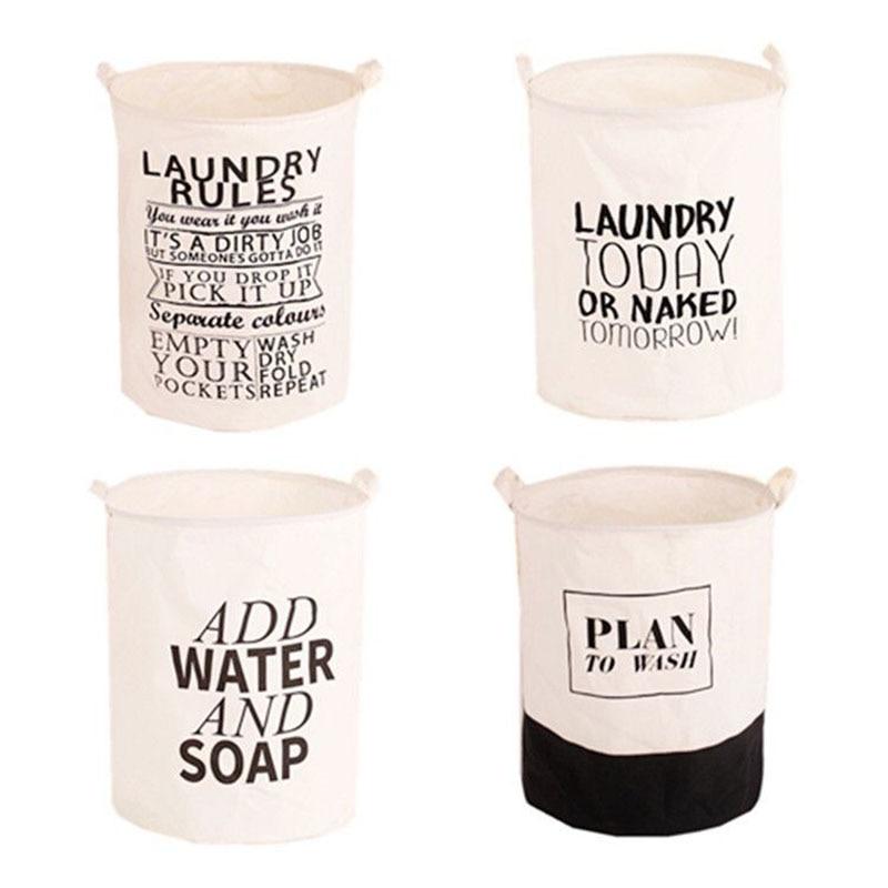 Único Plegable Etiquetado impresión Algodón Lino Lavado Ropa - Organización y almacenamiento en la casa