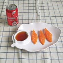 New Fashion Dinner Plate Melamine Dinnerware Banana Leaf Western Restaurant With Dish A5 Tableware