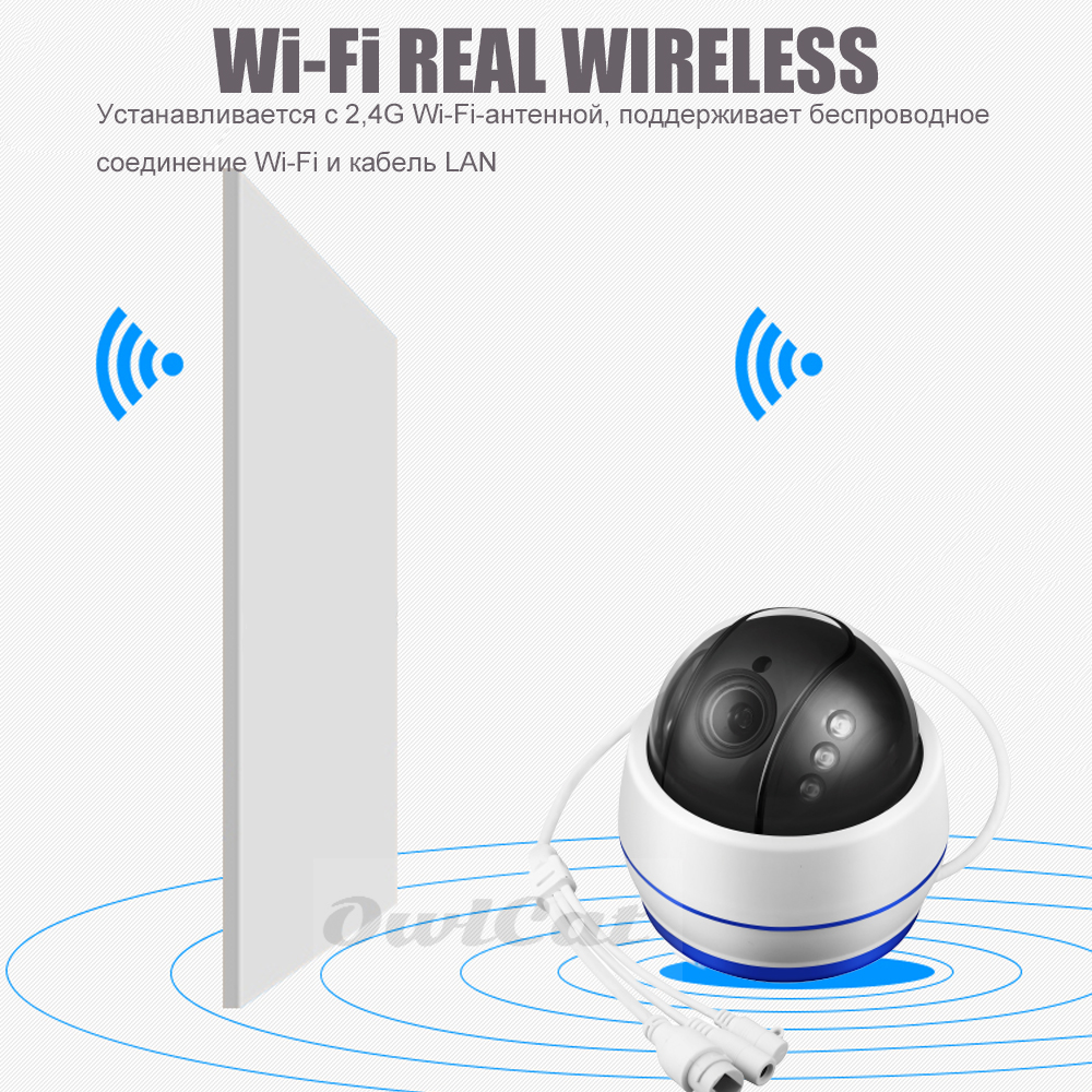Image 2 - OwlCat Sony335 HD 5MP Dome IP Camera WiFi PTZ 5x Optical Zoom CCTV Video Surveillance Camera 128G SD Card Mic Sound Record Onvif-in Surveillance Cameras from Security & Protection