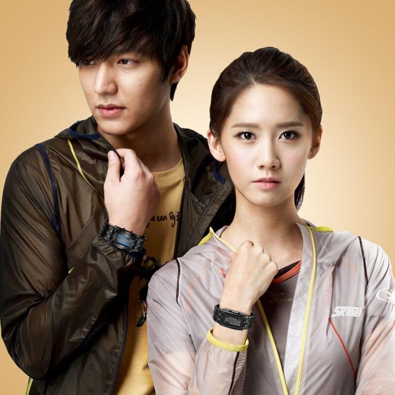 Skmei, популярные мужские модные креативные часы, цифровой светодиодный дисплей, водонепроницаемые ударопрочные наручные часы Lover'S, мужские ч... - 6
