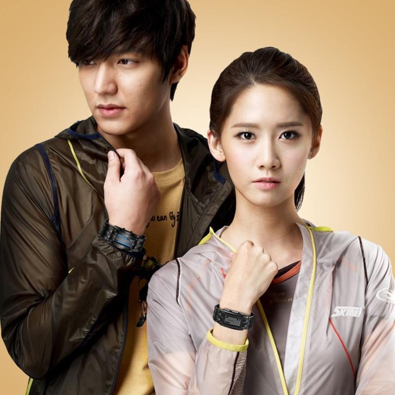 Skmei Popular Men Fashion Creative Watches Digital Led Display Water Shock Resistant Lover'S Wrist Watches Clock Men - 6