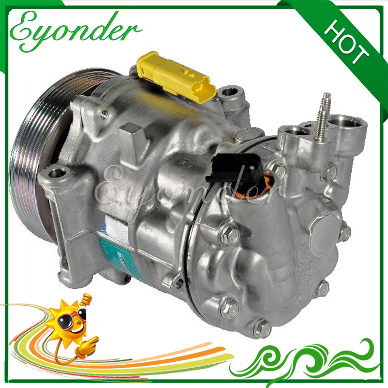 AC/C מיזוג אוויר מדחס קירור משאבת SD7C16 לpeogeot 508 2.2 508 SW 2.2 6453SN 9648138980 6453PV 9656574080 6453WW-במאווררים וערכות מתוך רכבים ואופנועים באתר Eyonder Car AC Spare Parts Store