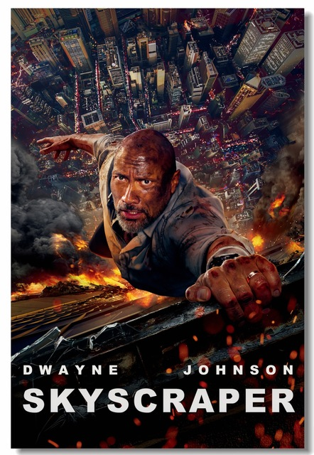 Custom Canvas Wall Decor Skyscraper Movie Poster The Rock
