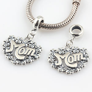 Original 925 Sterling Silver Jewelry Flowers Charm