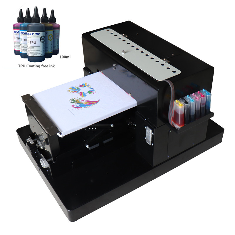 A3 size T-shirt Flatbed printer Digital Printing machine for printing pvc card phone cas printer A3 size digital textile printer