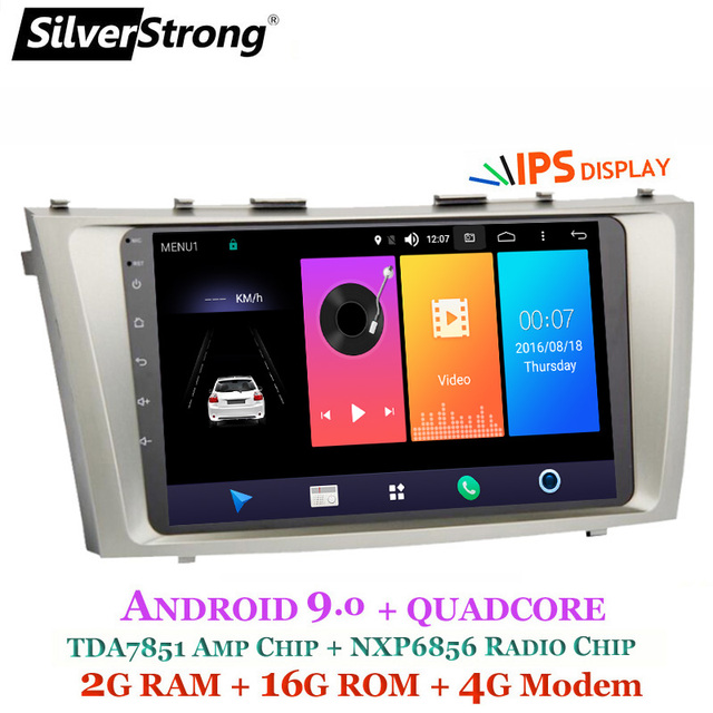 SilverStrong Android9.0 IPS Car DVD For TOYOTA CAMRY V40 AURION Master DSP v40 2007-11 auto radio with google play no DVD