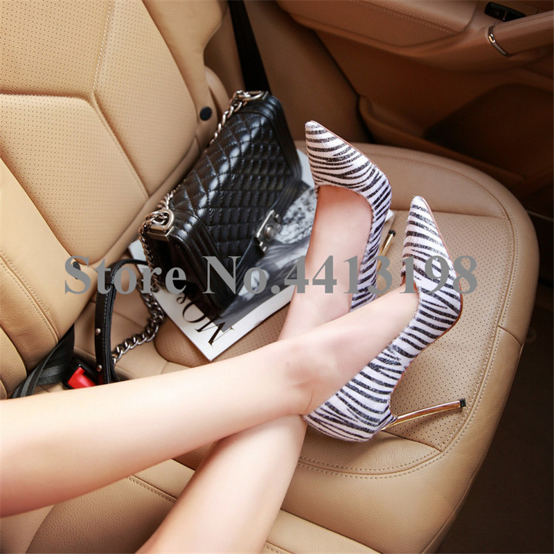Slip Mujeres Negro Las Rayas Moda otoño Casual Zapatos Thin Estrecha As De Blanco Punta Picture Tacones Bombas on Heels Primavera wxS7SqZz