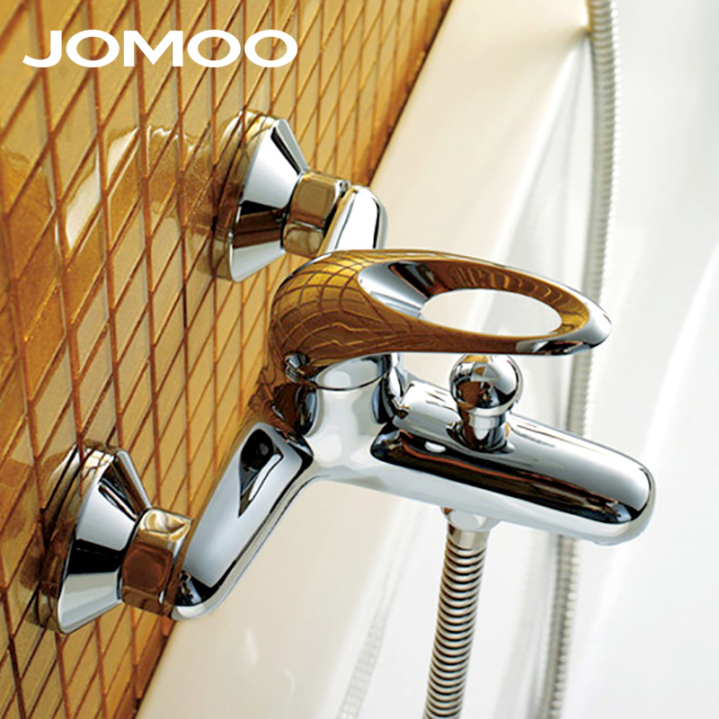 JOMOO Bathroom Bath Faucet Shower Faucet Bathtub Brass Material Polish Chrome Thermostatic shower mixer 3571-050 high quality brass chrome wall mounted bathroom thermostatic faucet thermostatic bathroom shower faucet bathtub faucet