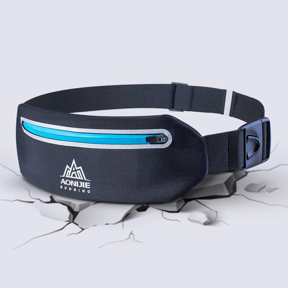 AONIJIE Men Women Outdoor Sports Waist Bag Lightweight Waterproof Shock Absorption Cellphone Pouch Earphone Hole Runing Cycling