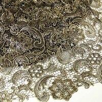 2017 Mới Nhất thiết kế phi vàng vải ren với sequins, chất lượng cao nigeria tulle vải ren cho đám cưới vải