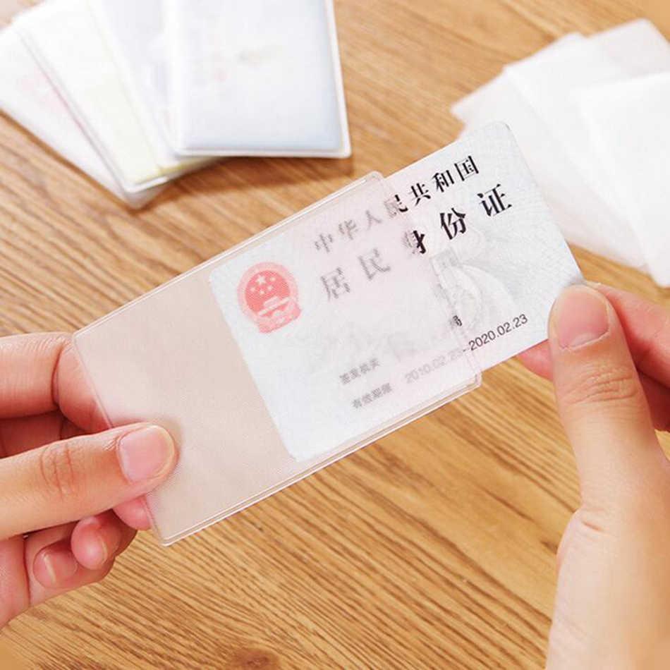 1 sztuk przezroczysty identyfikator posiadacza karty dziewczyna pcv data data powrotu (banku zasilania samochodów Ic kart biznesowych futerał na kartę kredytową etui na karty