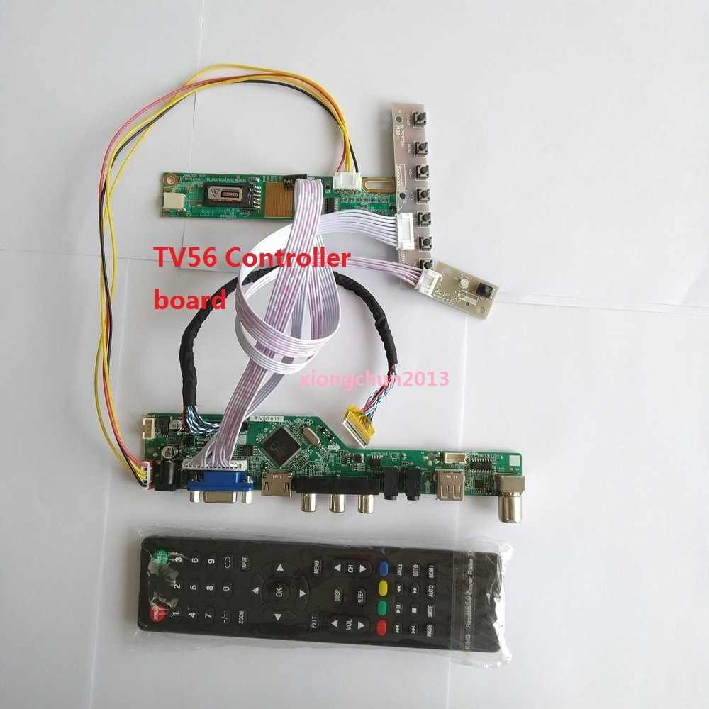 "Kit Voor LP171WP4 30pin Controller Board Digitale Signaal Interface Vga Hdmi Module Usb Av 1 Lampen 17.1 ""Resolutie TV56 1440X900"