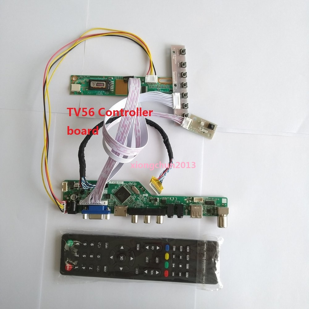 Kit For LP171WP4  30pin Controller Board Digital Signal Interface VGA HDMI Module USB AV 1 Lamps 17.1