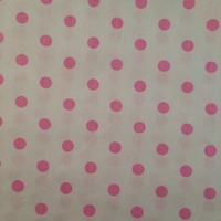100 160cm Big White Cloth Pink Polka Dot Jade 100 Cotton Twill All Match Fabrics Quilting