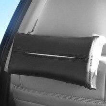 1 шт контейнер держатель для салфеток стайлинга автомобилей коробка ткани Портативный удобный автомобильный ткани, кожаная обложка автомобиль аксессуары для интерьера