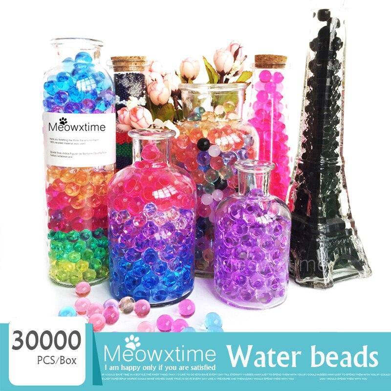 20000PCS//Bottle Jelly Bead Water Plant Flower Crystal Pearl Gel Balls Vase Decor